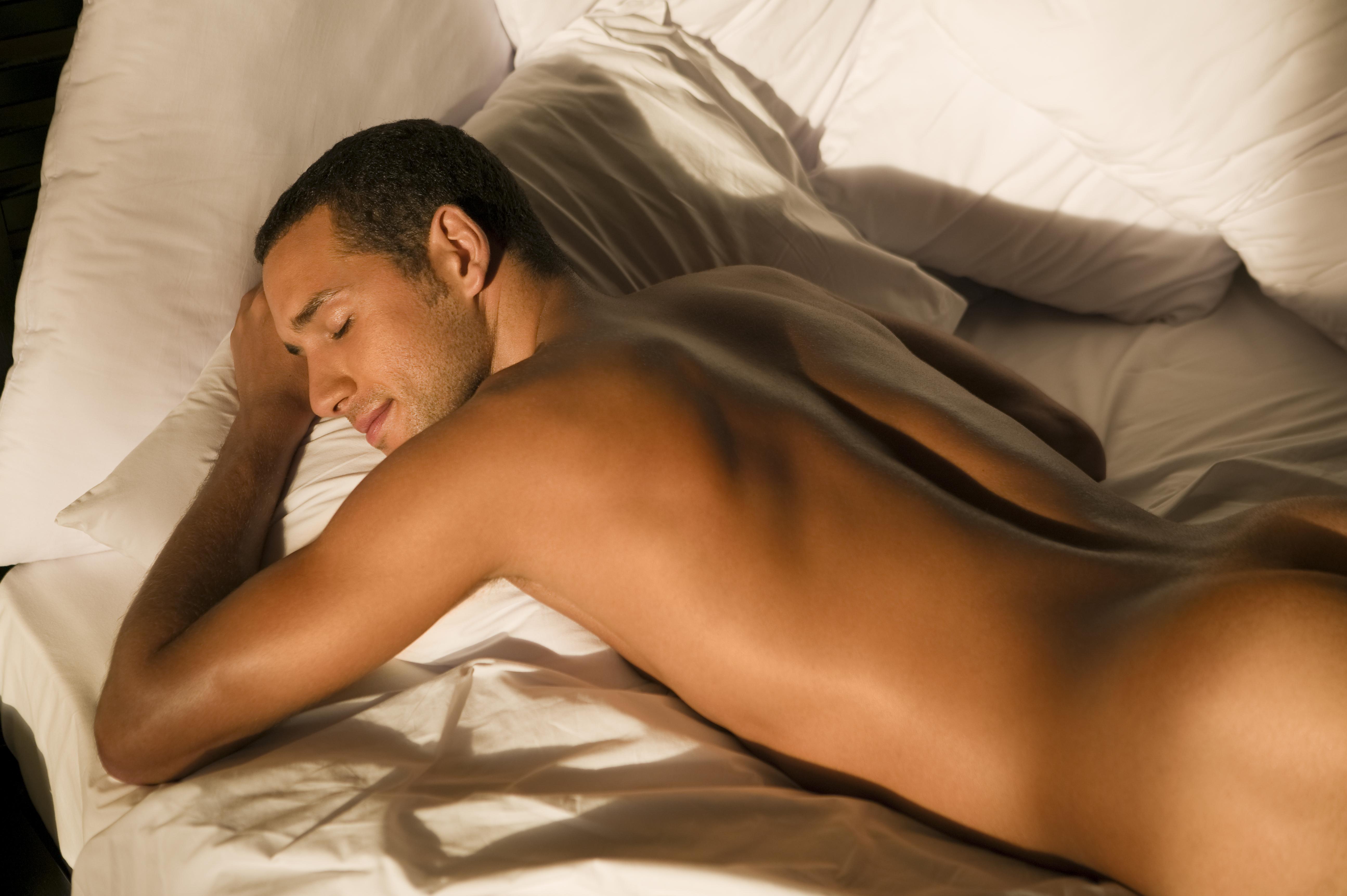 naked men in in bed